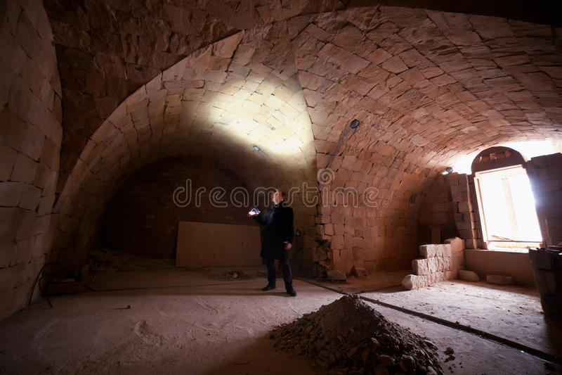 Download Man In Church Crypt Royalty Free Stock Photography - Image: 27634887