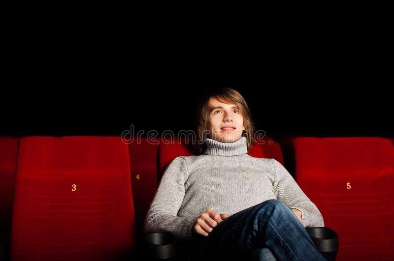 Download Man In The Cinema Royalty Free Stock Photo - Image: 28422155