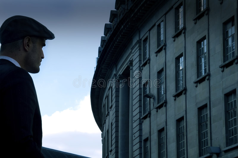 Man in city stock photos