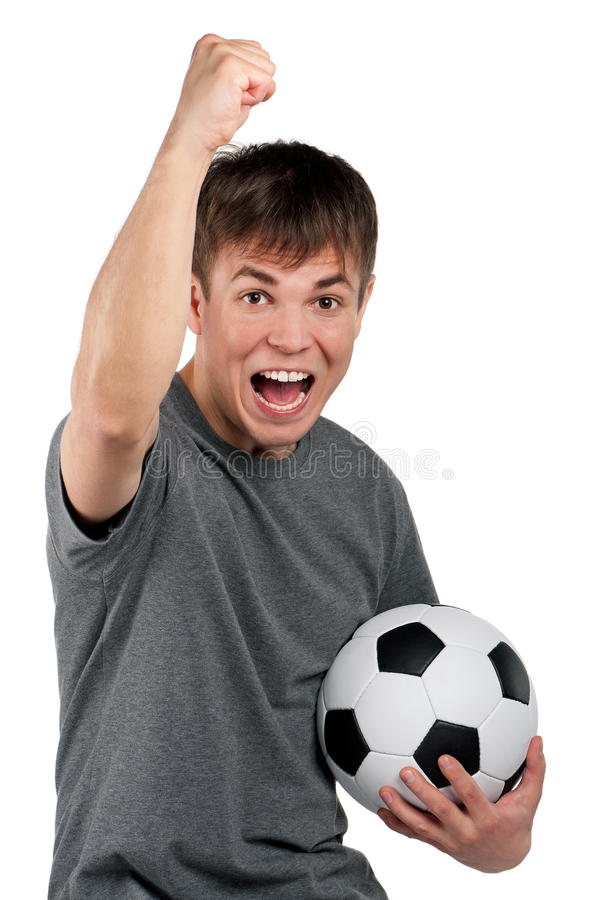 Download Man With Classic Soccer Ball Stock Photos - Image: 24564273
