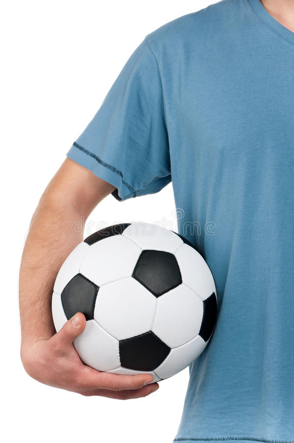 Download Man With Classic Soccer Ball Stock Photo - Image: 29335730