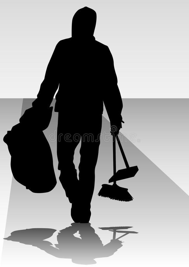 Download Man clean stock vector. Image of business, body, broom - 14806498