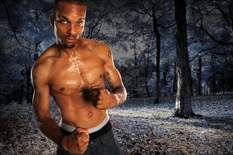Download Man With Clenched Fists stock photo. Image of outdoors - 20658054