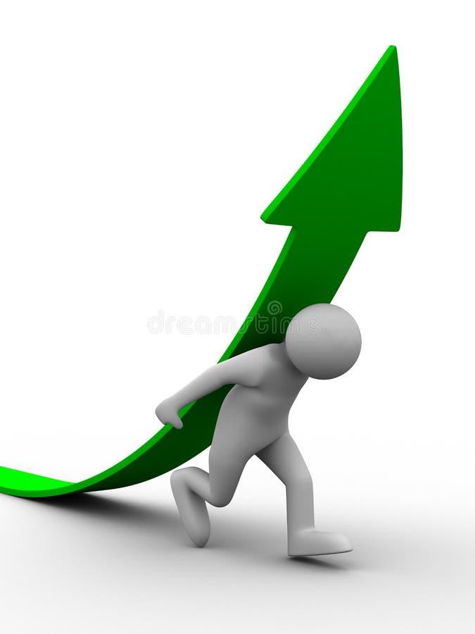 Download Man Climb Green Arrow Royalty Free Stock Photos - Image: 13644848