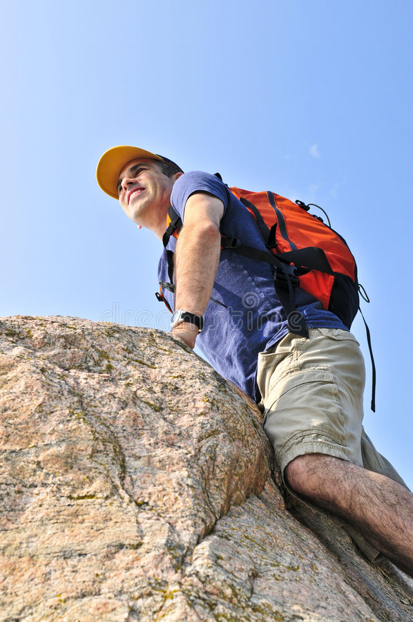 Download Man climbing stock photo. Image of active, nature, lifestyle - 6218514