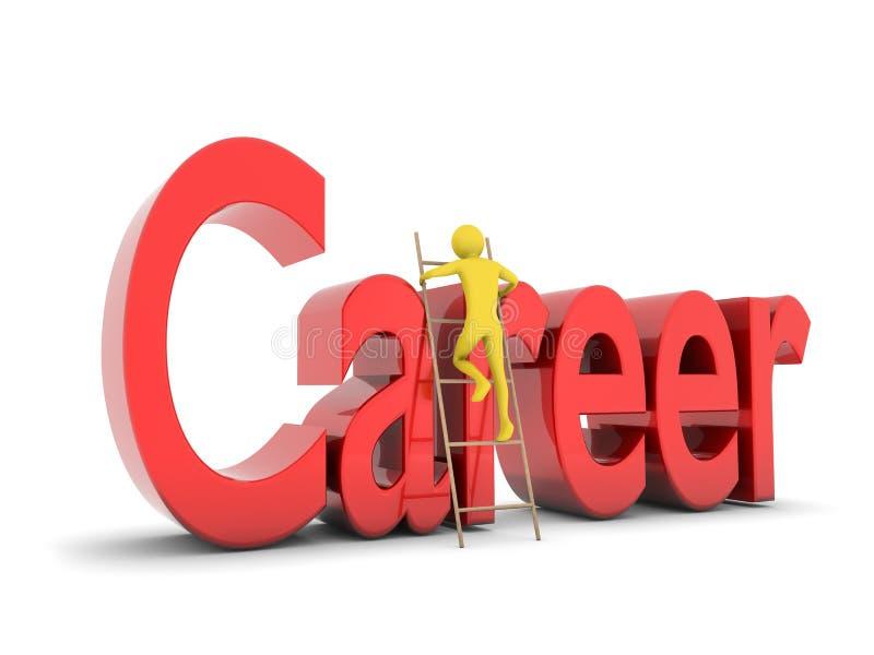 Man Climbing The Career Ladder Stock Image