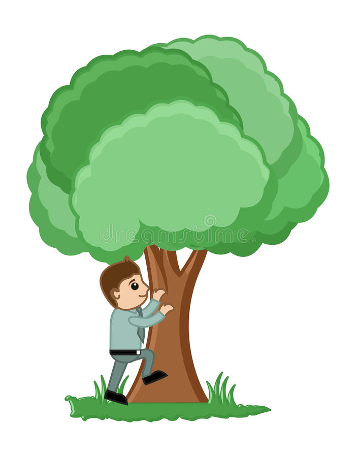 Download Man Climbing On A Tree Vector Illustration Stock Vector - Illustration: 32245527