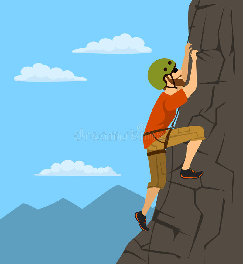 Rock climbing cartoon images