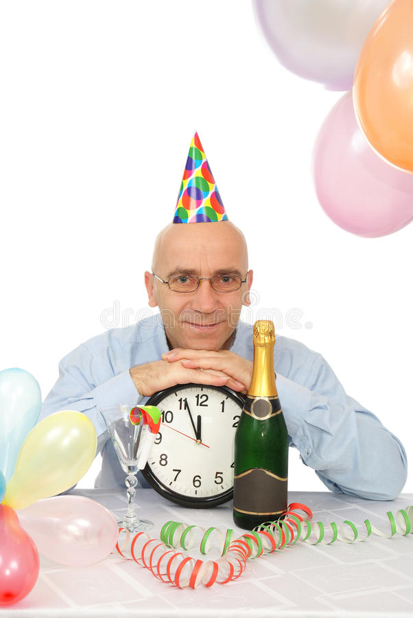 Man with clock stock photography