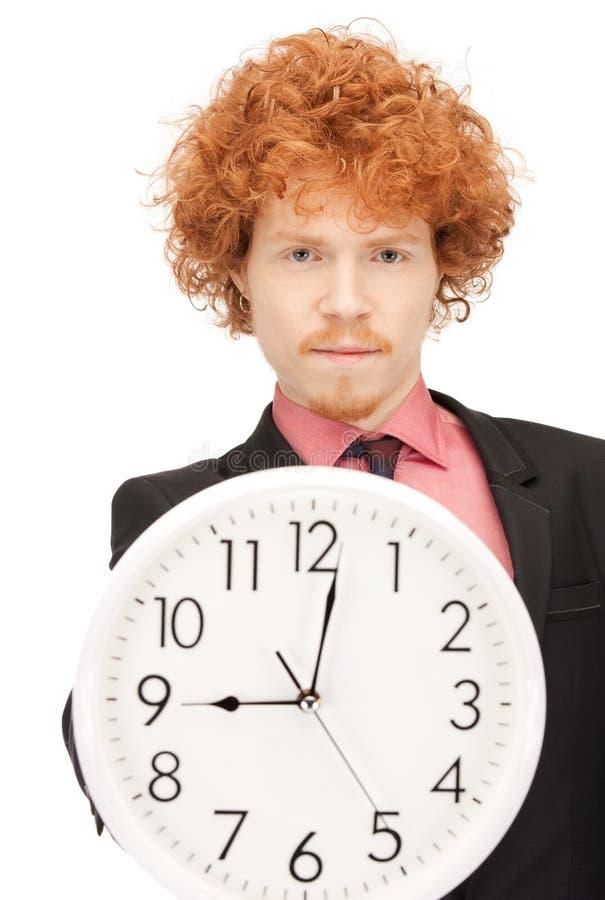 Download Man with clock stock photo. Image of caucasian, deadline - 21598568