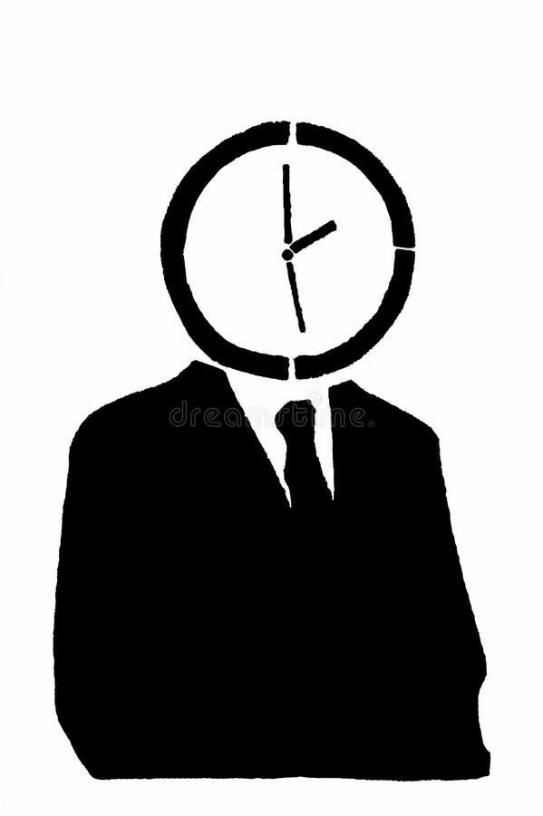 Man-clock royalty free stock photos