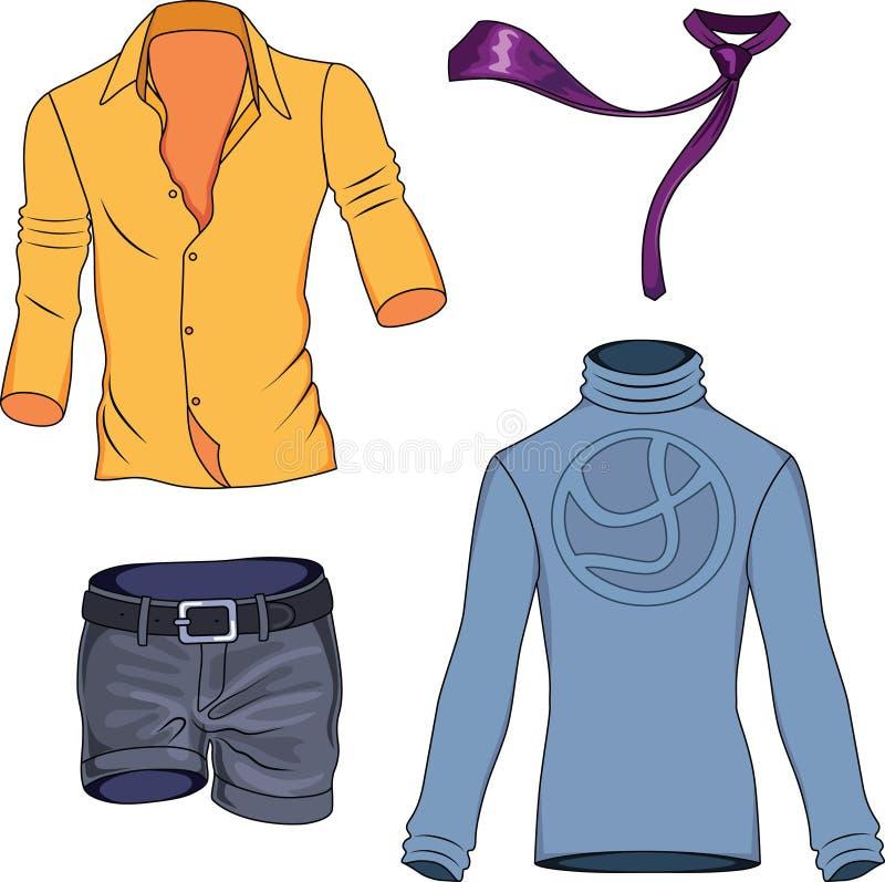 Man clothes collection stock photos