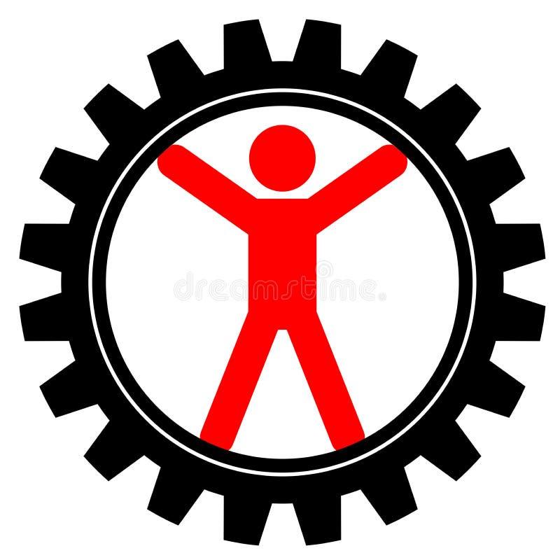 Download Man in cog-wheel stock vector. Illustration of industry - 27054174