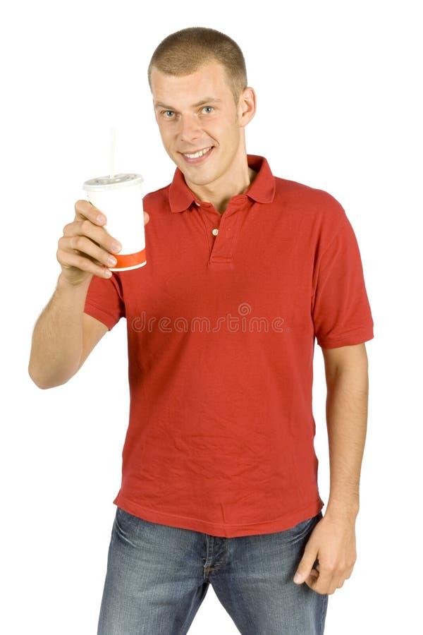 Man with cola stock photos