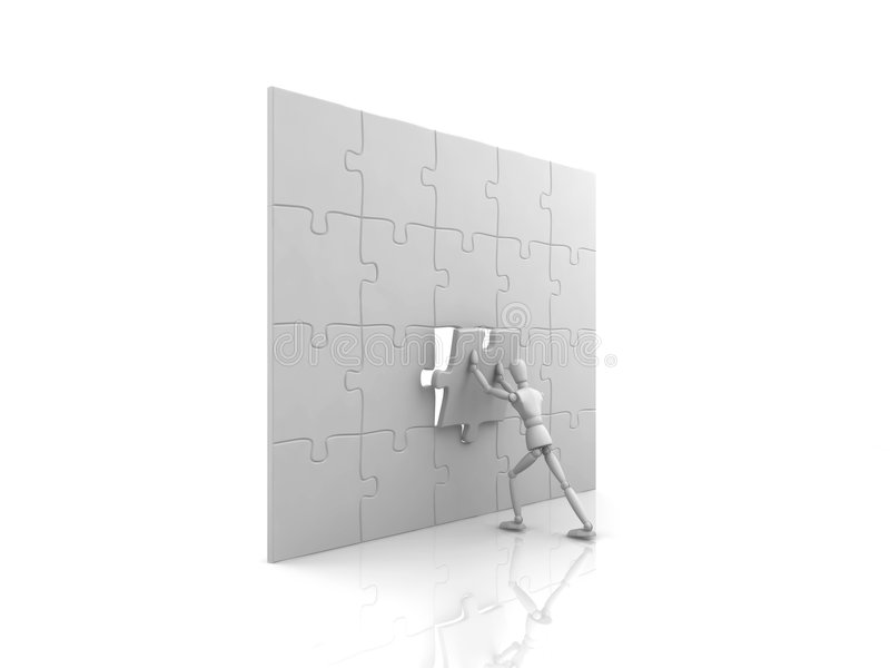Download Man Completing Jigsaw Puzzle Royalty Free Stock Photography - Image: 8204257