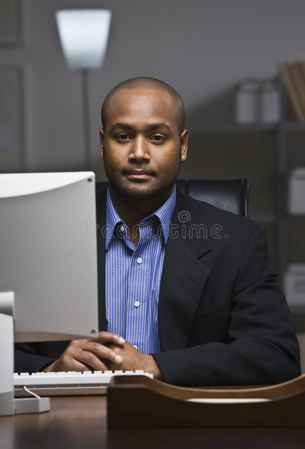 Download Man on Computer stock photo. Image of male, inside, twenties - 10012060