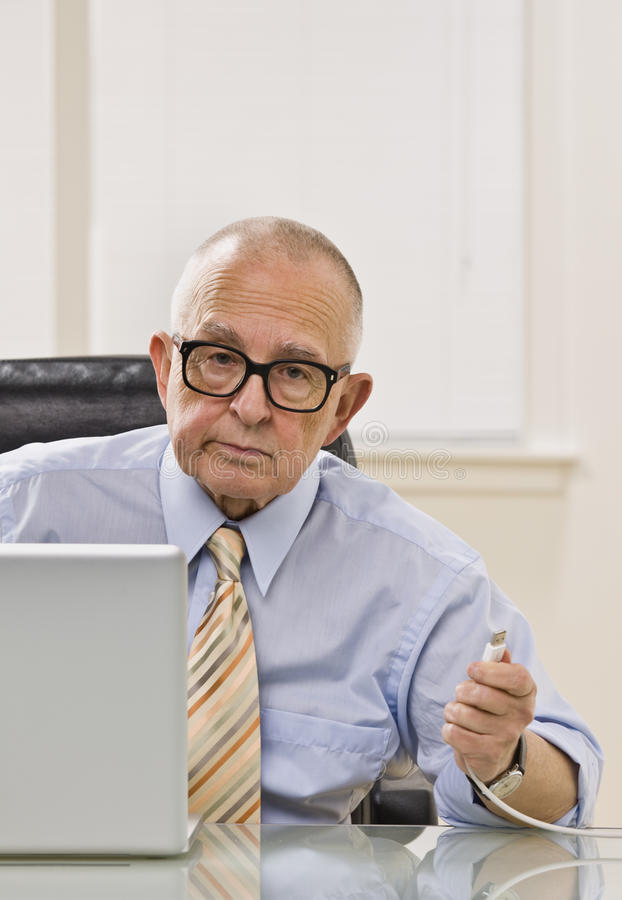 Download Man on Computer stock photo. Image of suit, male, chair - 10012130