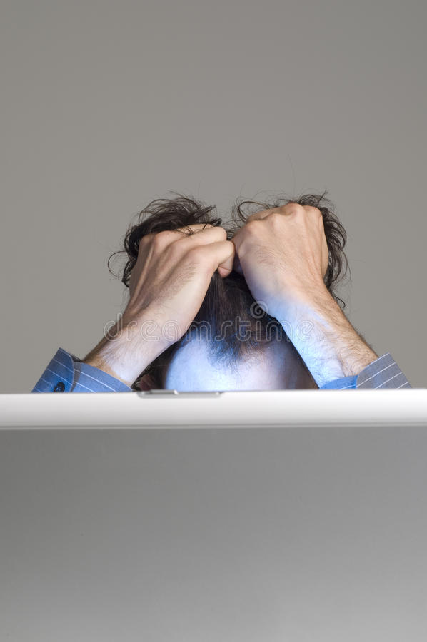 Download Man and computer stock image. Image of adult, frustrated - 9861461