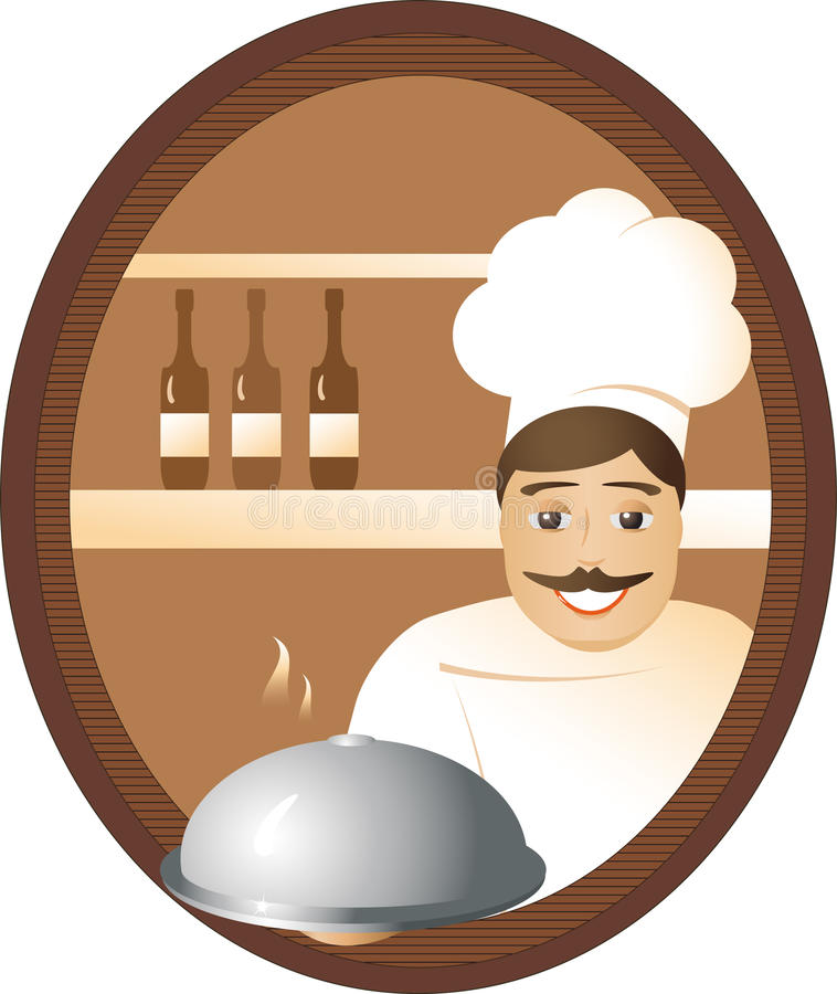 Download Man cook stock vector. Image of dish, expensively, kind - 20308537