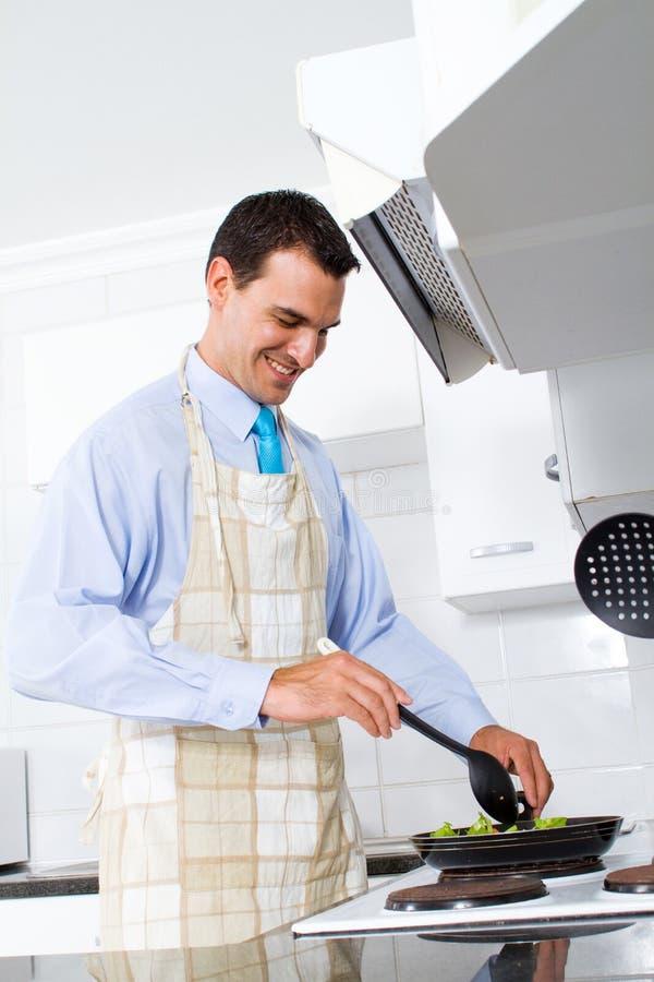 Man cooking royalty free stock photos