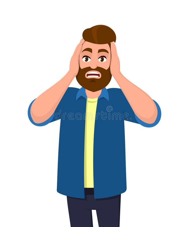 Free Man Covering/closing His Ears With Hands And Making A Don`t Hear/listen Gesture. Man Does Not Want To Hear Or Listen. Royalty Free Stock Photos - 131678078
