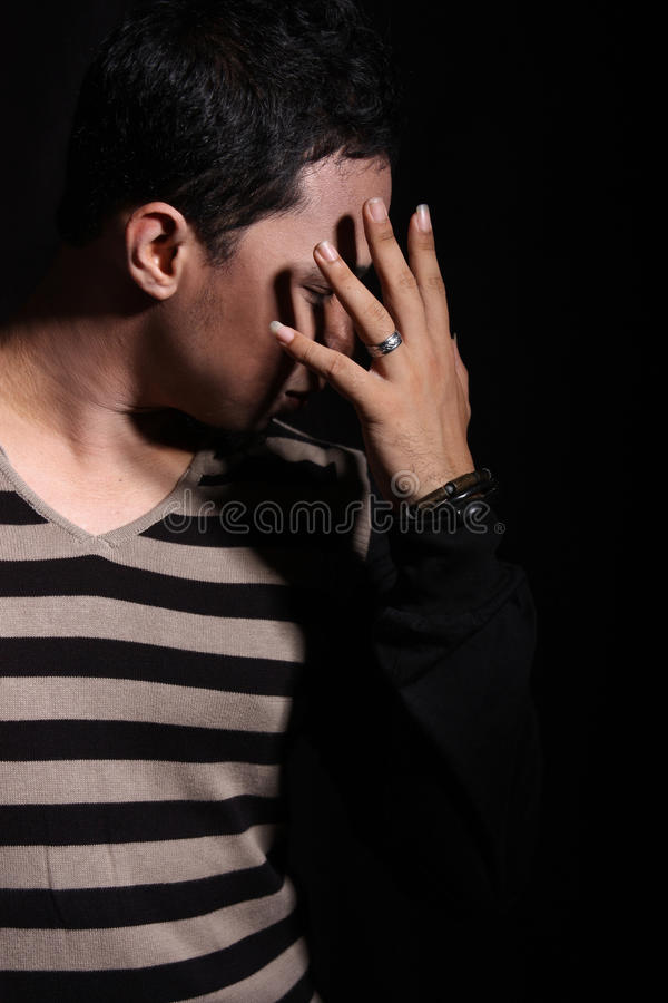 Download Man covering his face stock image. Image of covering - 12259193
