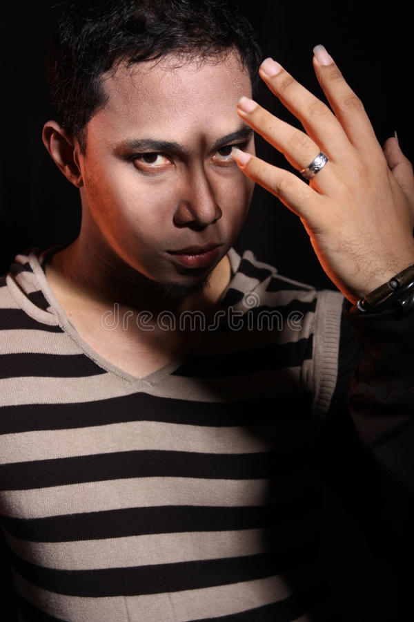 Download Man covering his face stock image. Image of portrait - 12259211