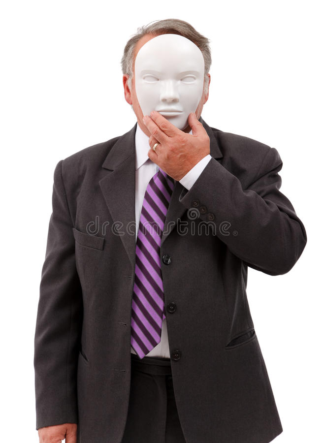 Download Man Covering His Face With Mask Stock Photo - Image of person, conceptual: 16847712