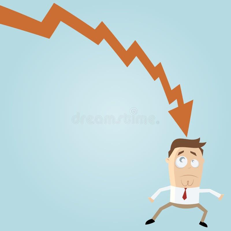 Download Man in crisis stock vector. Illustration of cartoon, amusing - 28666598