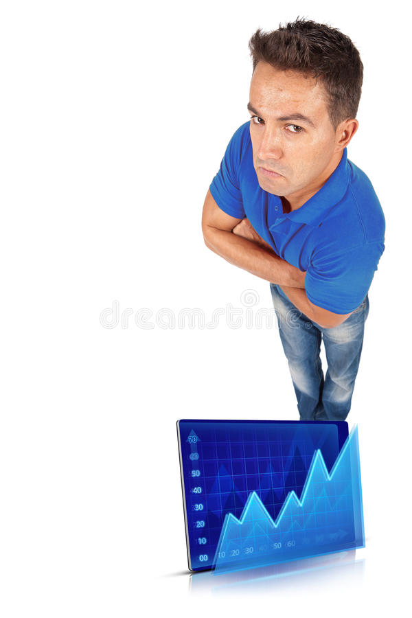 Download Man with crossed arms stock illustration. Image of comparative - 26150315