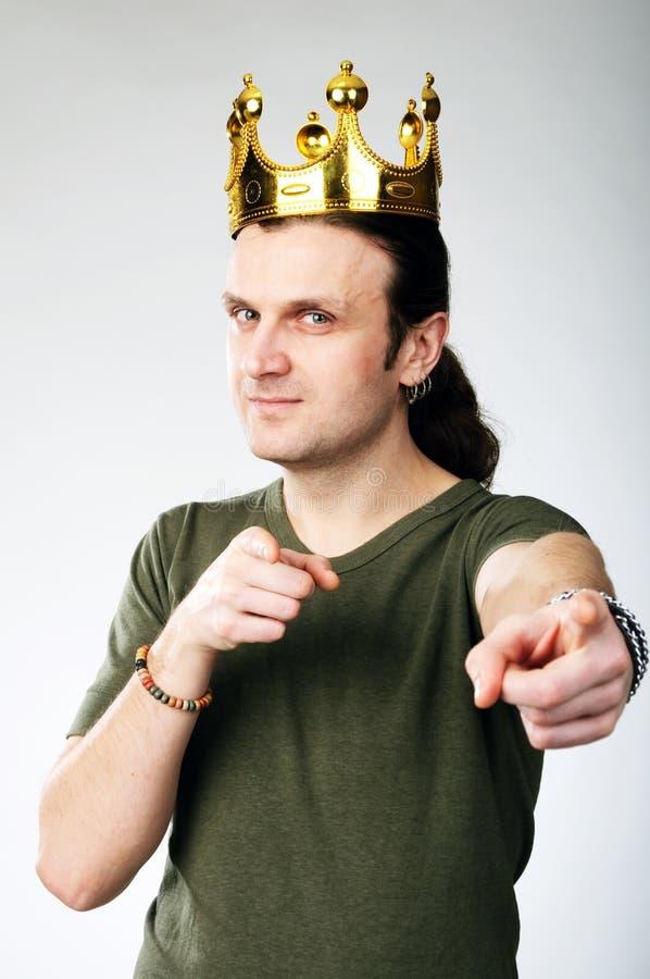 Man with crown stock photos