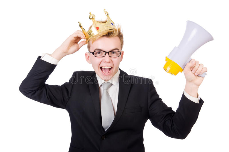 Download Man with crown stock image. Image of loud, coronation - 42203623