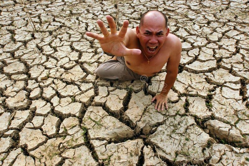 Man Cry Global Crisis Crack Stock Photos