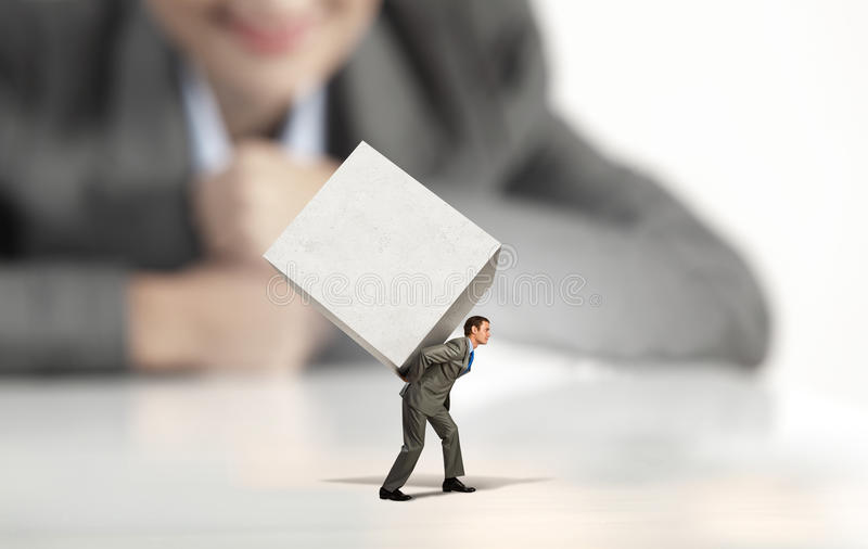 Download Man with cube stock image. Image of overload, corporate - 43020053