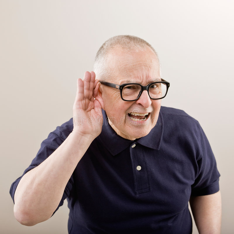 Download Man cupping his ear stock photo. Image of hearing, adult - 6599344