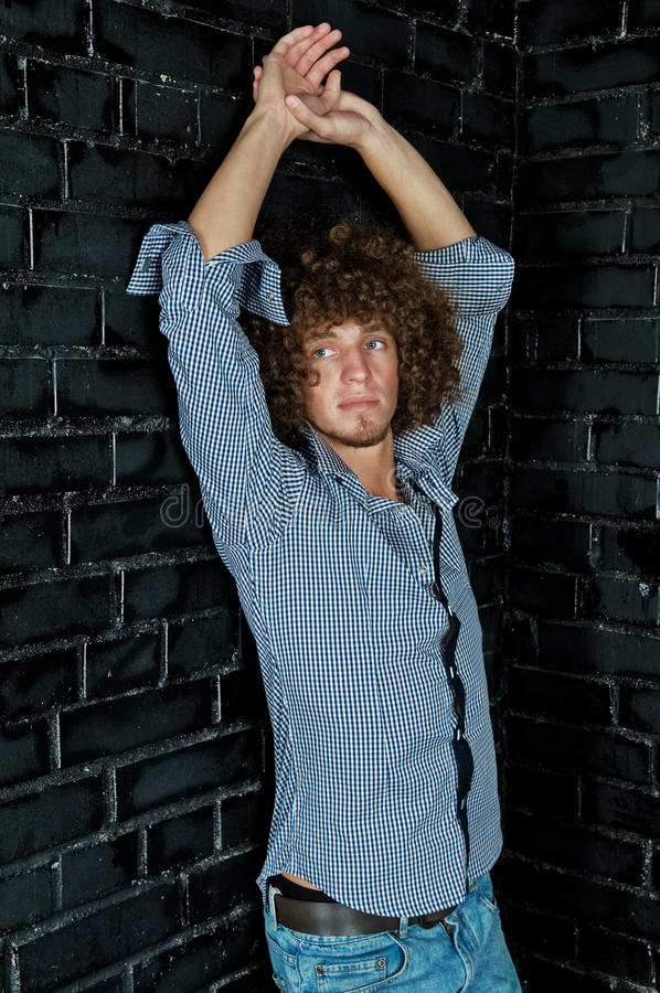 Download Man With A Curly Hair Stock Photos - Image: 15994343
