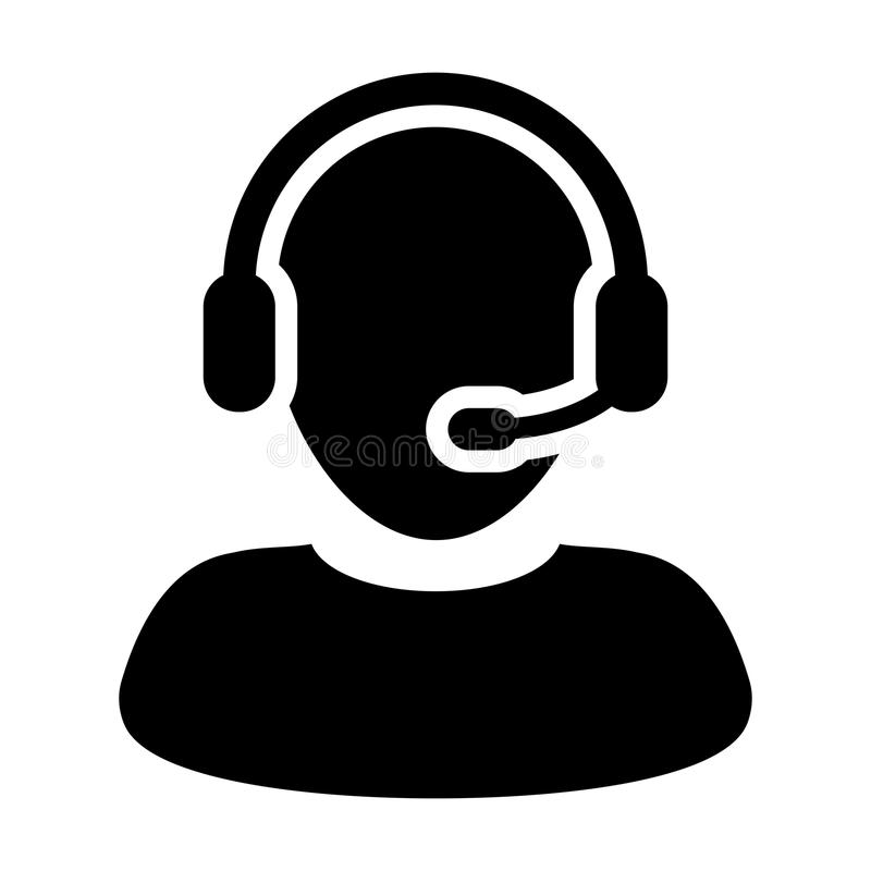 man customer care service and support icon vector flat headphone vector file headphone vector free