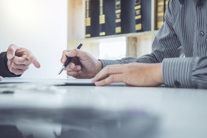 Man customer signing car document contract agreement, successful stock images