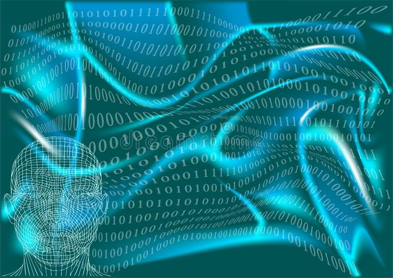 Abstract man in cyberspace. Man in cyberspace, abstract background in 10 EPS stock images