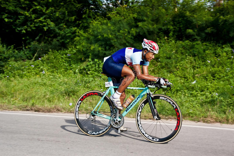 Man  Cycling In Triatlon Editorial Photography