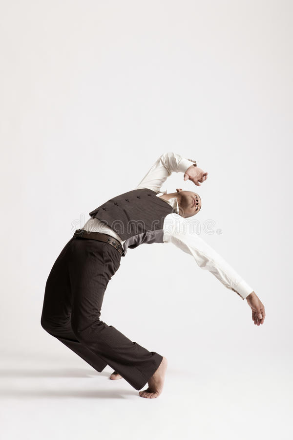 Free Man Dancing Jazz Over White Background Stock Photography - 33891992