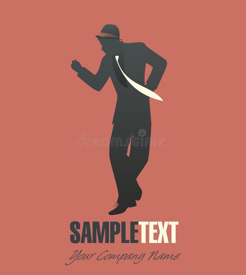 Man dancing jazz or swing royalty free illustration
