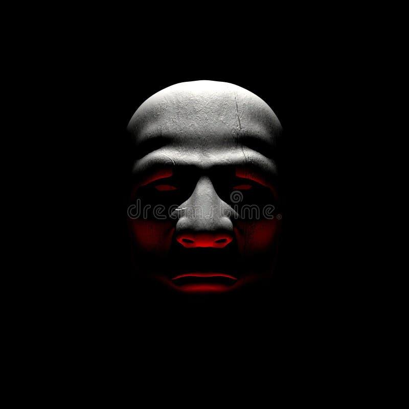Man in the dark vector illustration