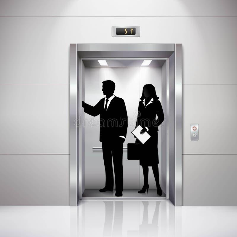 Man de Vrouw silhouetteert Realistisch Zwart Wit Beeld vector illustratie
