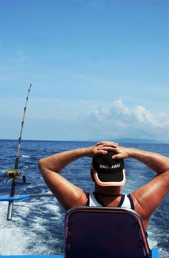 Download Man deep sea fishing stock image. Image of jetty, ocean - 1390991