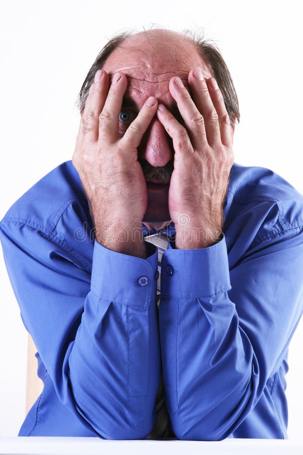 Download Man in depression stock photo. Image of blue, faces, gesture - 3567410