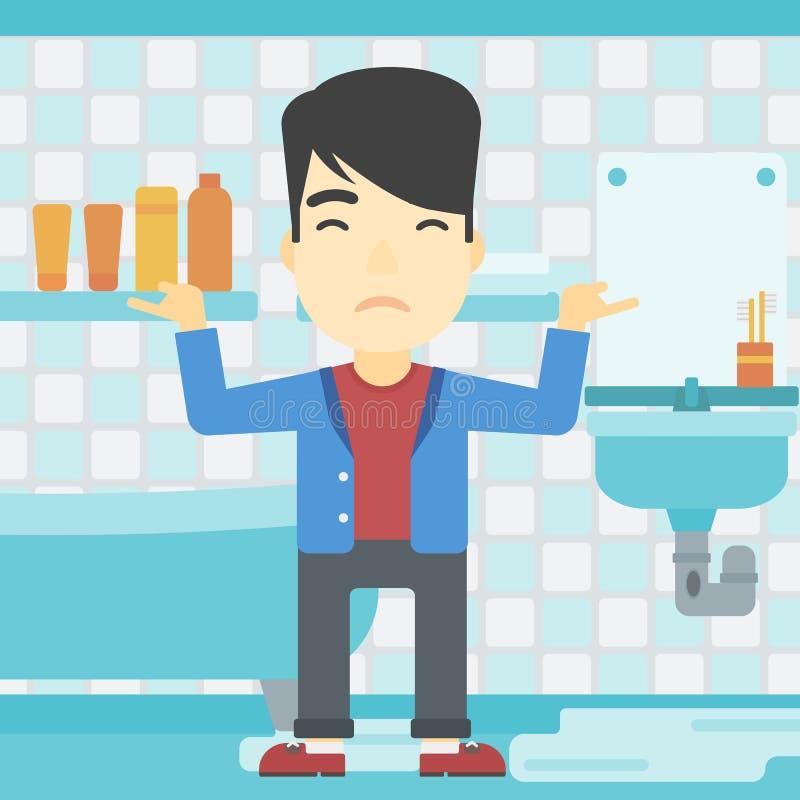 broken overflowing clogged toilet cartoon stock vector