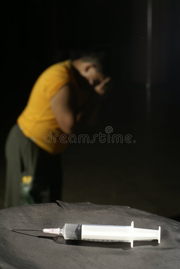 Download Man In Despair With Syringe Royalty Free Stock Photography - Image: 7452727
