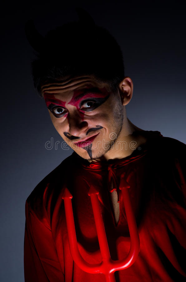 Download Man in devil costume stock image. Image of evil, monster - 34288197
