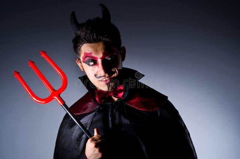 Download Man in devil costume stock image. Image of satan, horned - 34469091